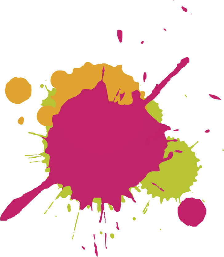 colourful paint splat